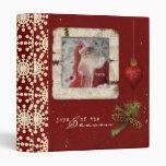 memories of christmas photo album vinyl binder