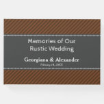 [ Thumbnail: Memories of Our Rustic Wedding Guest Book ]