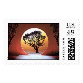 Memories of September Sun Postage Stamp