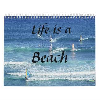 Memories of the good life! Sun, Sea, Sand and Surf Wall Calendar