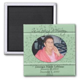 Memories of You Memorial / Remembrance Custom Card 2 Inch Square Magnet
