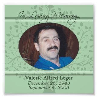 Memories of You Memorial / Remembrance Custom Card Photo Print