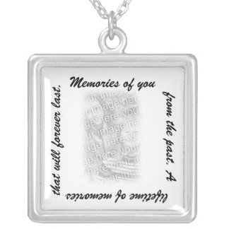 Memories of You Square Necklaces