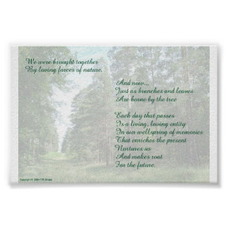 Memories Poem on Nature Background Poster