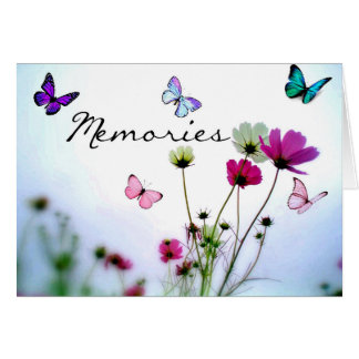 Memories - Sorry for Loss Butterfly Sympathy Card