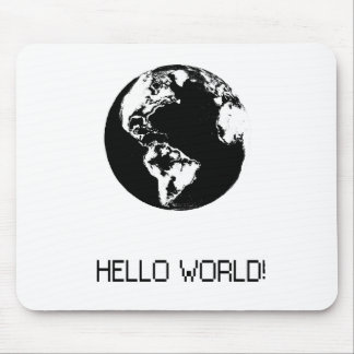 Memories with World message Hello Mouse Pad
