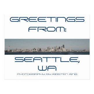 memory 2 371, GREETINGS, FROM:, SEATTLE, WA, PH... Postcard
