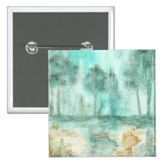 Memory,Abstract Landscape Trees Art Painting 2 Inch Square Button