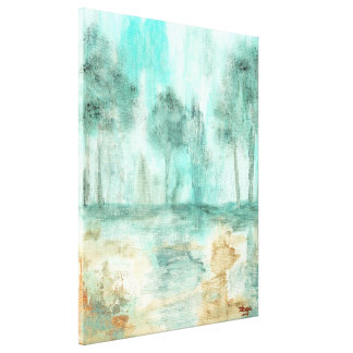 Memory,Abstract Landscape Trees Art Painting Canvas Print