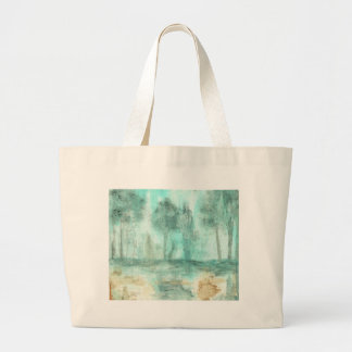 Memory,Abstract Landscape Trees Art Painting Large Tote Bag
