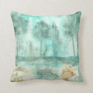 Memory,Abstract Landscape Trees Art Painting Throw Pillows