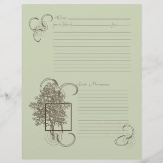 Memory and Recipe Page