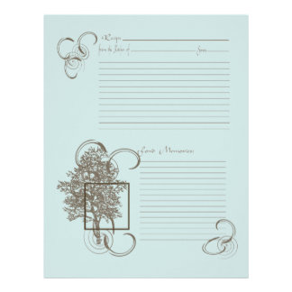 Memory and Recipe Page Letterhead