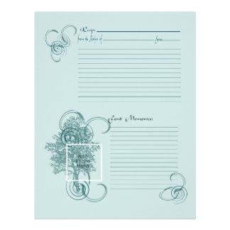 Memory and Recipe Page Letterhead Design