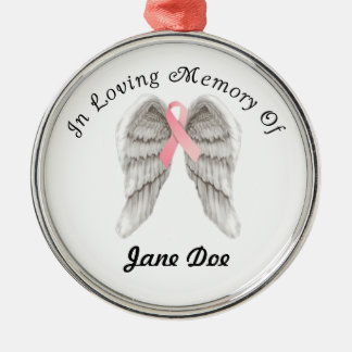Memory Angel Wing Ornament for Breast Cancer