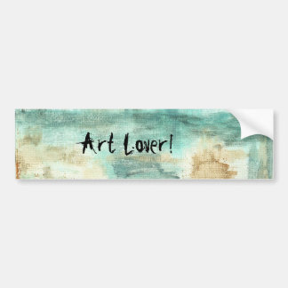 Memory Art Lover Abstract Landscape Trees Car Bumper Sticker
