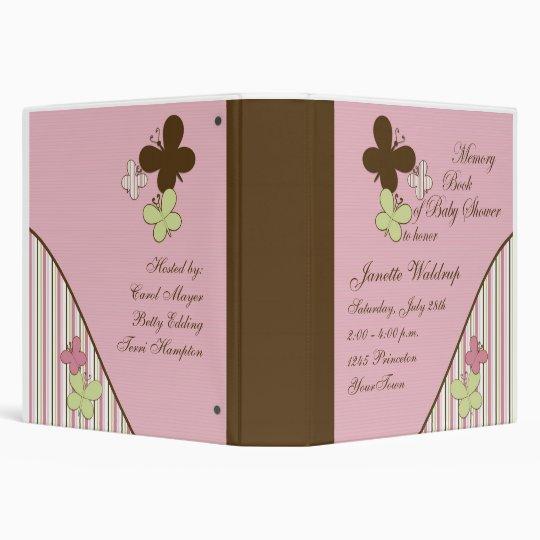 Memory Baby Shower Photo Book 3 Ring Binder
