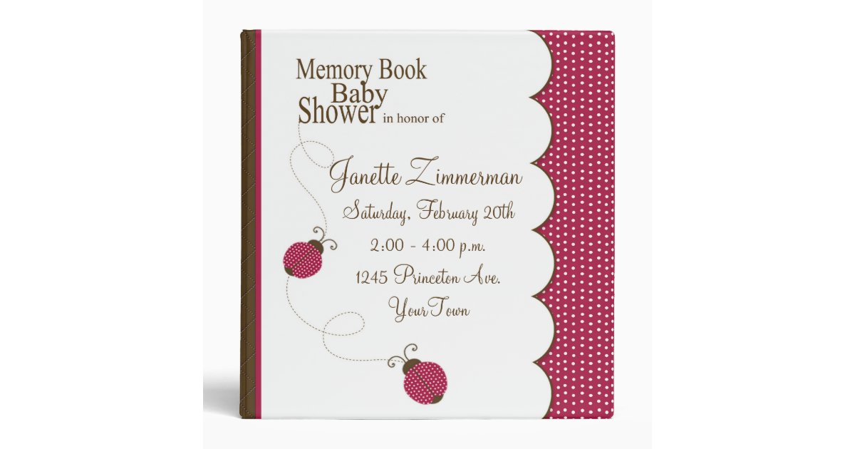 memory book baby shower album binder zazzle
