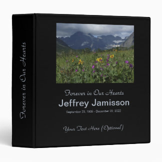 Memory Book, Wildflowers and Glaciers 3 Ring Binder