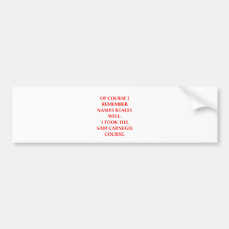 memory bumper stickers