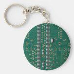 Memory chip basic round button keychain