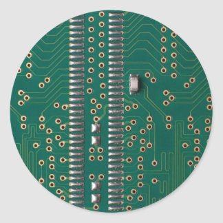 Memory chip classic round sticker