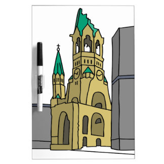 Memory church Berlin Dry Erase Board