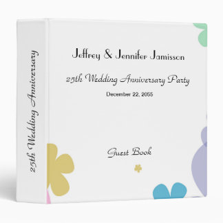 Memory/Guest Book, 25th Wedding Anniversary Party 3 Ring Binder