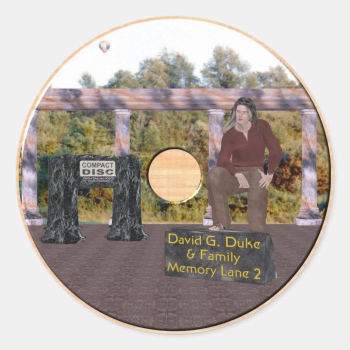 Memory Lane 2 Classic Round Sticker