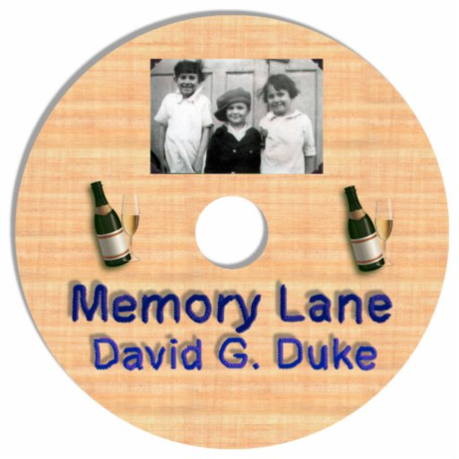 Memory Lane Disk Label Standing Photo Sculpture