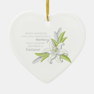 Memory Lily Christmas Ornament