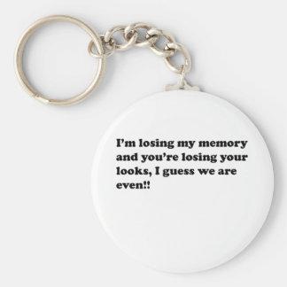 memory loss keychain
