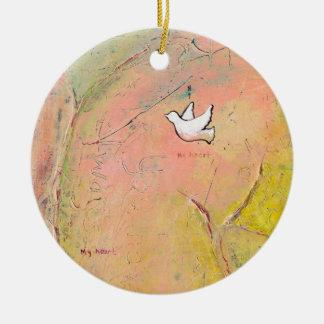 Memory map love romance unique art painting bird ornament