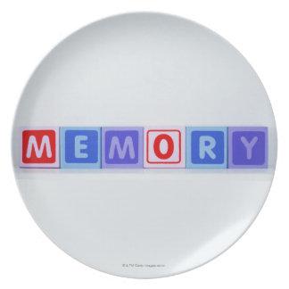 Memory. Melamine Plate