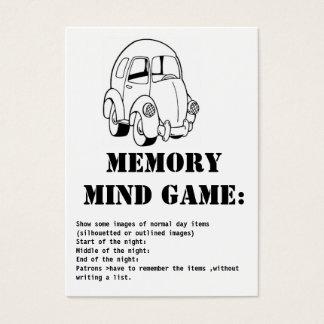 memory mind game-car business card