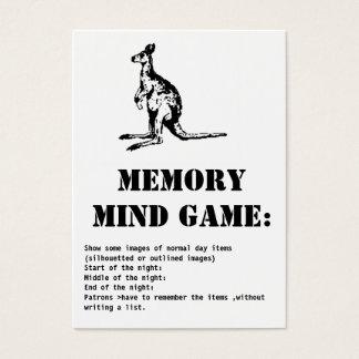 memory mind game-kangaroo business card