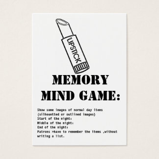 memory mind game-lipstick business card