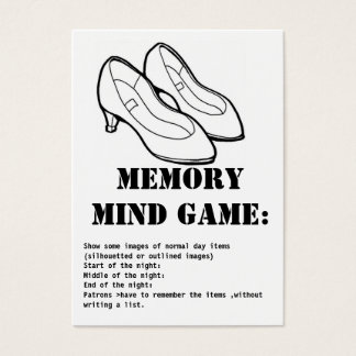 memory mind game-shoes business card