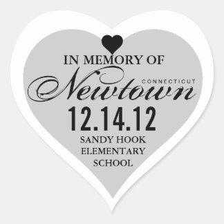 Memory Newtown Tragedy Heart Sticker