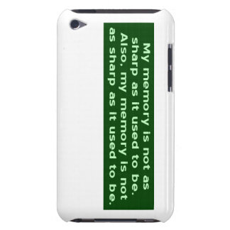 Memory Not Sharp Barely There iPod Case