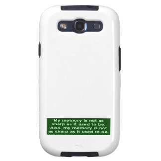 Memory Not Sharp Galaxy S3 Cases