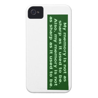 Memory Not Sharp iPhone 4 Covers