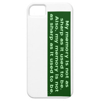 Memory Not Sharp iPhone 5 Cases