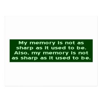 Memory Not Sharp Postcard