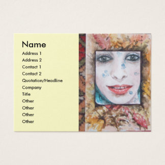 MEMORY OF AUTUMN  WITH LEAVES AND DROPS OF WATER BUSINESS CARD