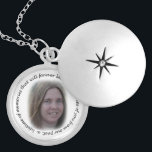 """Memory of You Necklace<br><div class=""""desc"""">This necklace has a photo that you can change to who&#39;s photo you would like to have in this necklace. Choose they style and color you want. Has a photo in the center with a feathery border around it, and has the words: &quot;Memories of you from our past, a lifetime...</div>"""