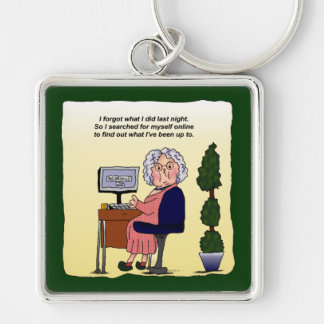 Memory Problems Funny Humorous Maw Keychain