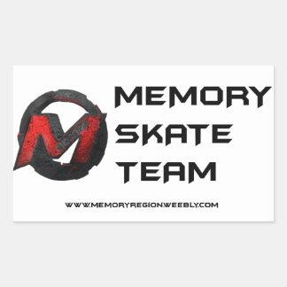 Memory Skate Team Sticker 1