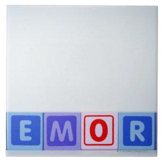 Memory. Large Square Tile