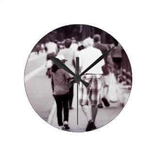 Memory With Grandpa Round Clock